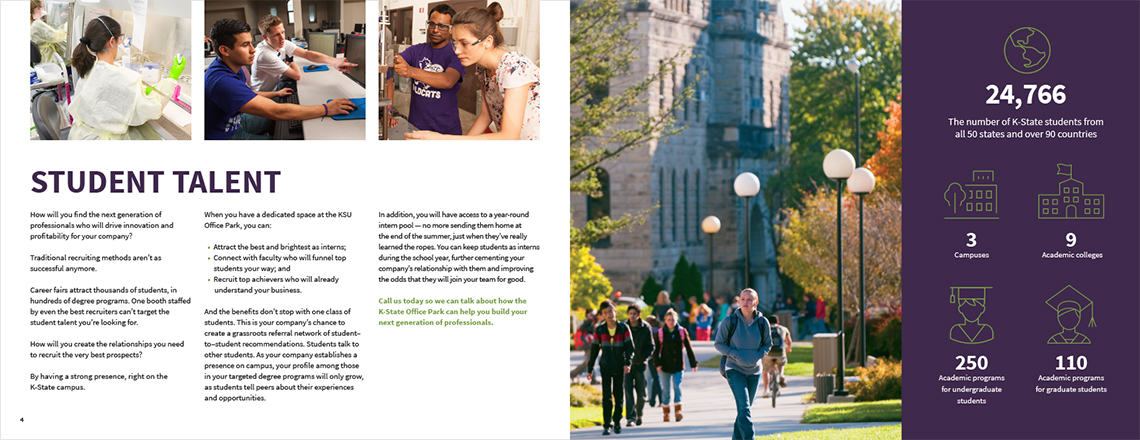 K-Site Brochure Inside Spread