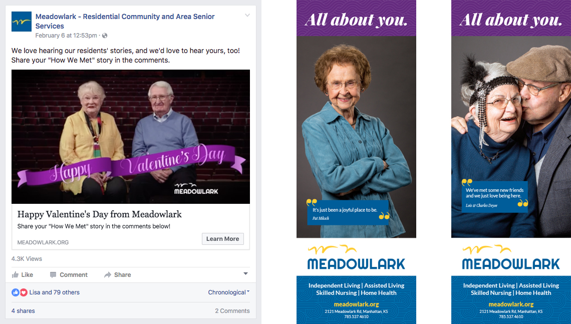 """Meadowlark """"All About You"""" Ad for Kansas Magazine and Facebook Ad"""