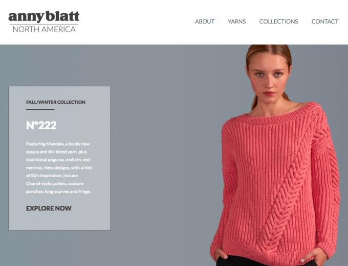 Anny Blatt North America website