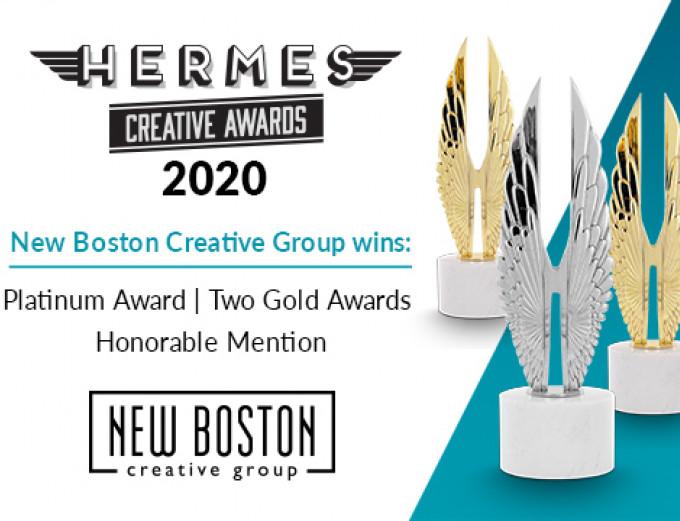 Platinum Award, Two Gold Awards: Hermes Creative Awards