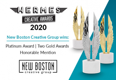 Platinum Award, Two Gold Awards: Hermes Creative Awards