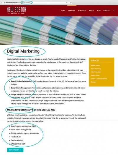 New Boston Digital Marketing Screenshot