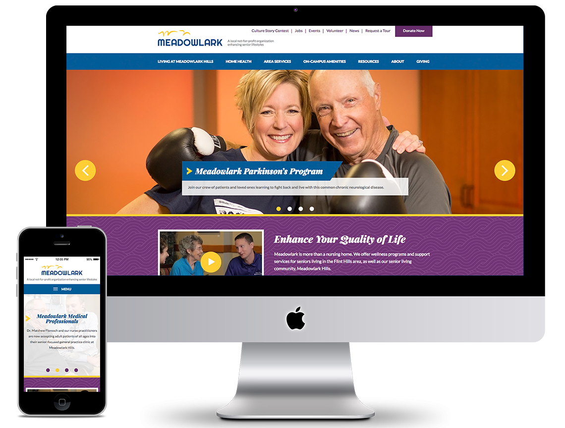 Meadowlark website on a large screen and a smartphone